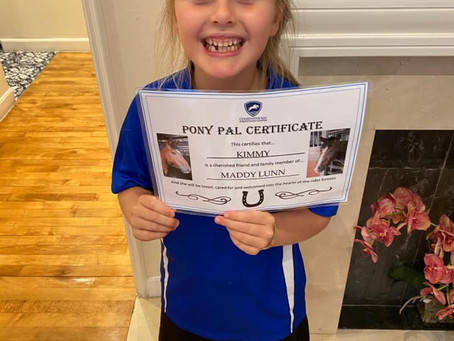 Our Pony Pal vouchers have been very popular!