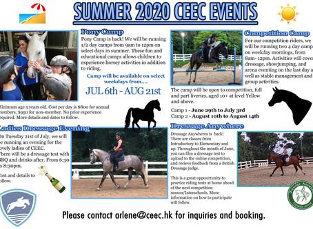 SUMMER 2020 CEEC EVENTS