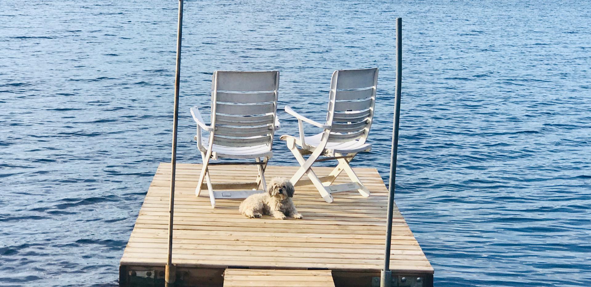 Chalet à louer au Québec | face au lac | 4 saisons Le Cocooning L'Ascension | Le quai
