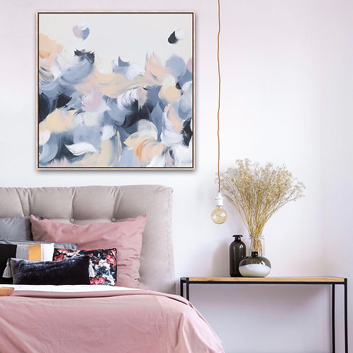 Still moments - 79cm x 79cm - Framed acrylic on stretched canvas