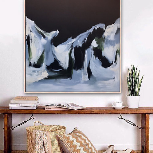 SOLD - Where you dream - 104cm x 104cm - Framed acrylic on stretched canvas