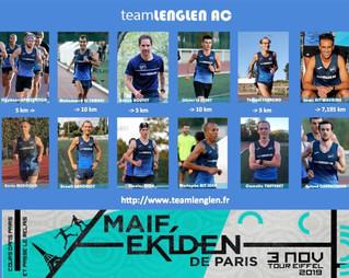 Voici nos 2 Équipes Ekiden de Paris 🚀💪
