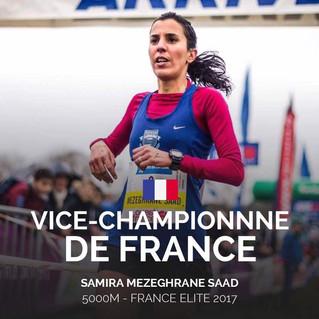 Samira Vice Championne de France du 5000m