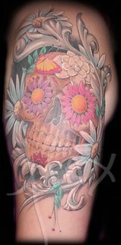 Liz's Flower Skull- Finished