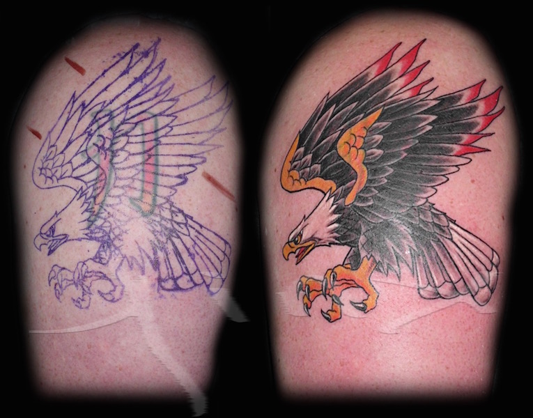 Traditional Eagle Cover Up