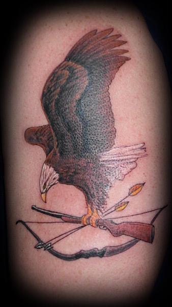 Eagle, Arrows, Rifle