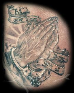 Scott Praying Hands Healed