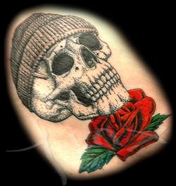 Skull Hat Rose