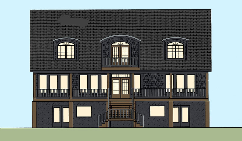 151 Broad Creek Rear Elevation with Colo
