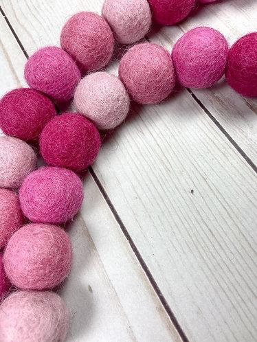 Pink Ombre Ball Garland