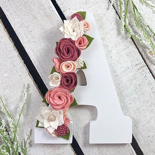 Wooden Floral Letter