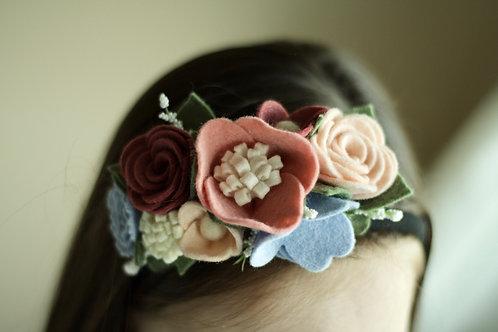 Floral Half Crown