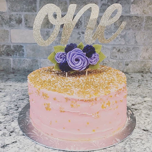 Lavender Cake Topper