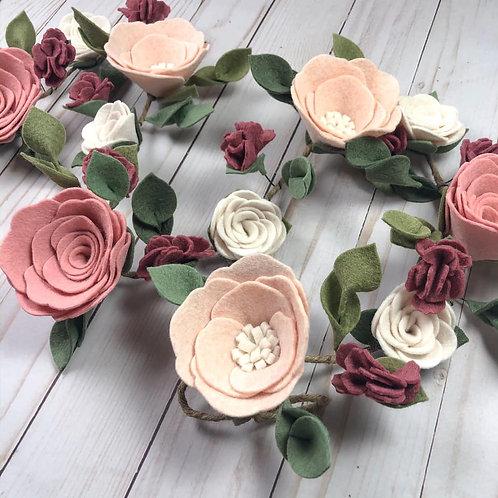 Treasured Blooms Felt Flower Garland