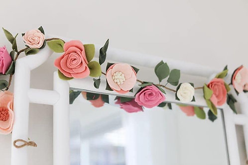 Promised Blooms Felt Flower Garland