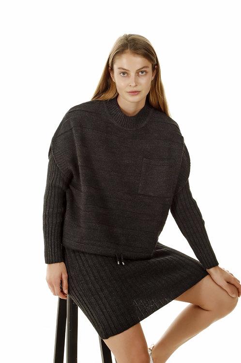 שמלת סריג עם סוודר