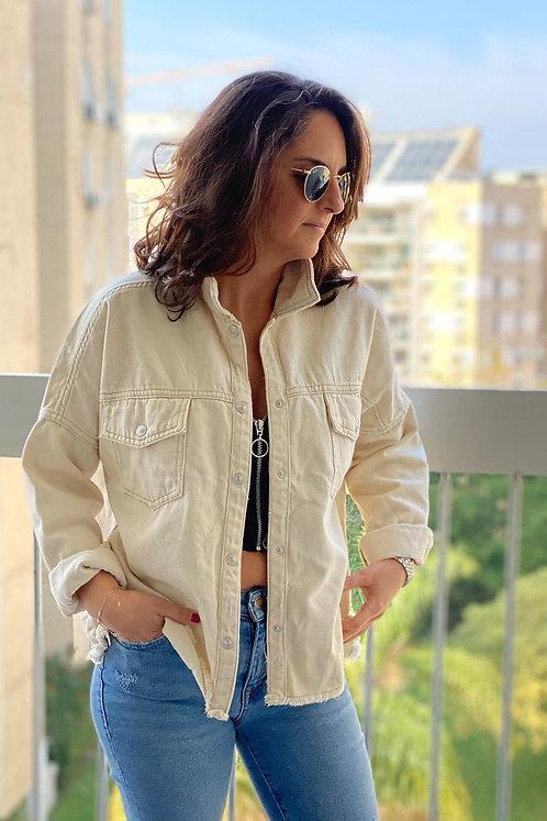 מעיל ג׳ינס אוף וואייט