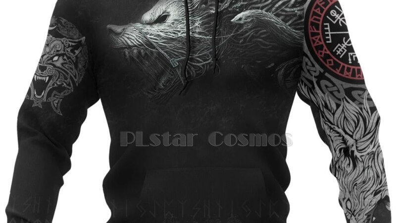 Original Cosmos Viking Warrior Tattoo New Fashion Hoodie
