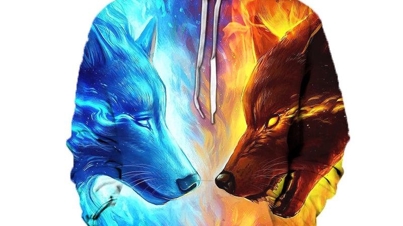 3D Wolf Men's Hoodies
