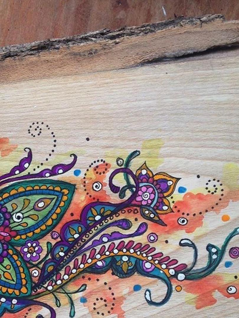 watercolour on ash
