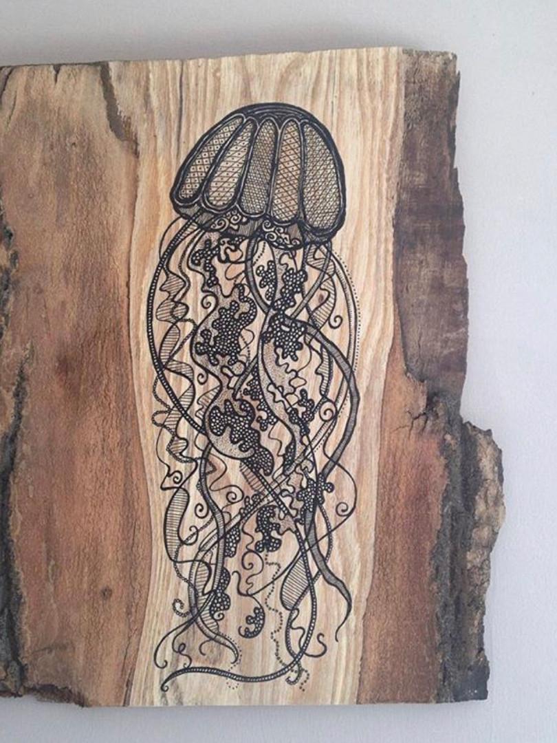 jellyfish on ash