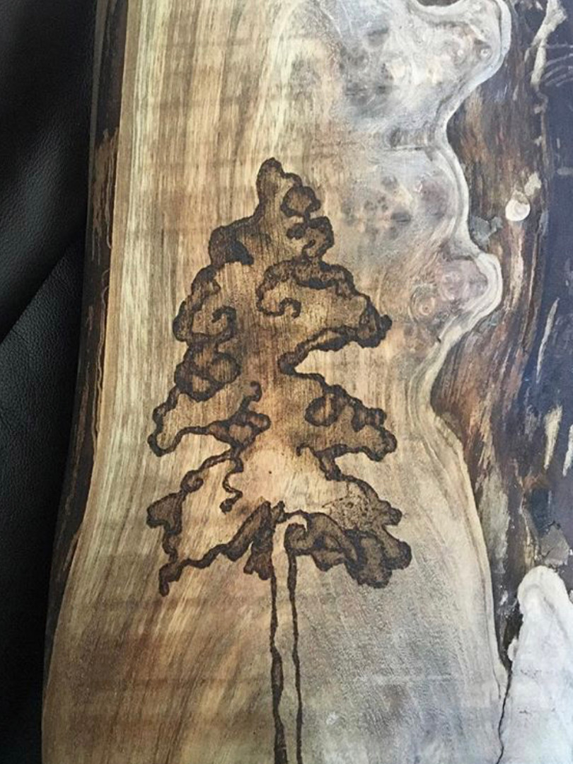pyrography on ash