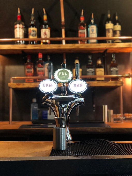 mobile bar with draught pints