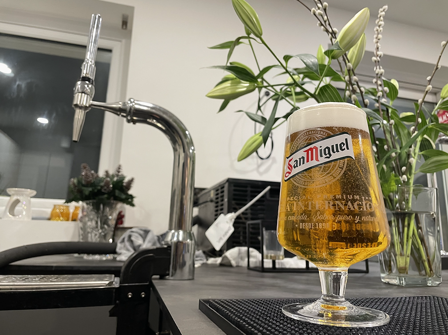 pint pulled from home bar system