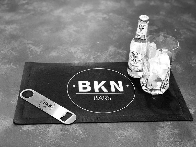 drinks on mobile gin bar at wedding