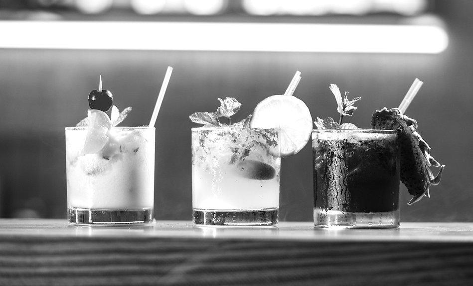 cocktails served on mobile bar