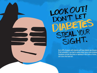 Don't lose sight of diabetes. Your vision can be damaged or lost without treatment.