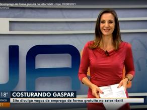 Jornal do Almoço - SC divulga Costurando Gaspar