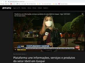 NSC TV faz chamada no jornal da manhã (Bom dia Santa Catarina)