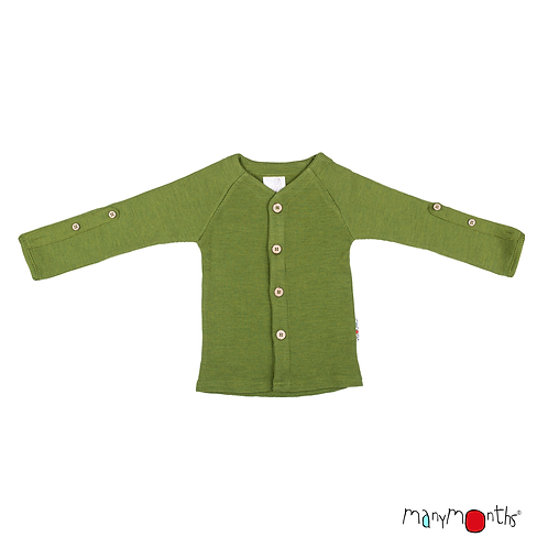 ManyMonths Natural Woollies Cardigan with Adjustable Sleeve