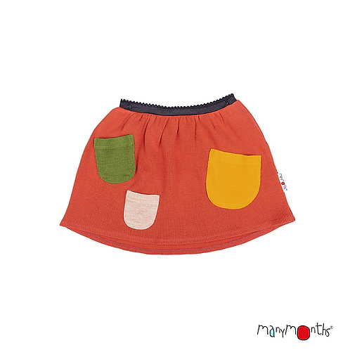 ManyMonths Natural Woollies Treasure Pockets Princess Skirt Unique