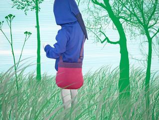 ManyMonths Natural Woollies Hooded Zip Cardigan and #MaM Crossbody Purse