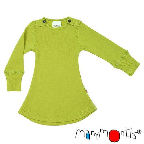 ManyMonths Woollies Long Sleeve Dress Sweet Apple