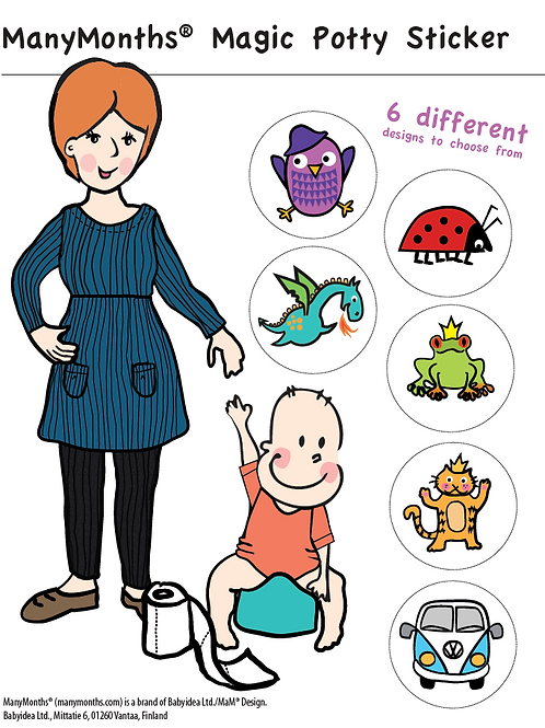 Magic Potty Sticker