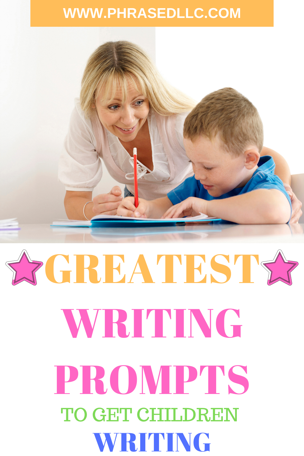 Writing prompts for kids that feature fantasy, fiction, creating writing and funny options for 3rd and 5th grade students.