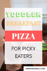 Toddler Breakfast pizza that will please your picky eater and also be loved by your whole family