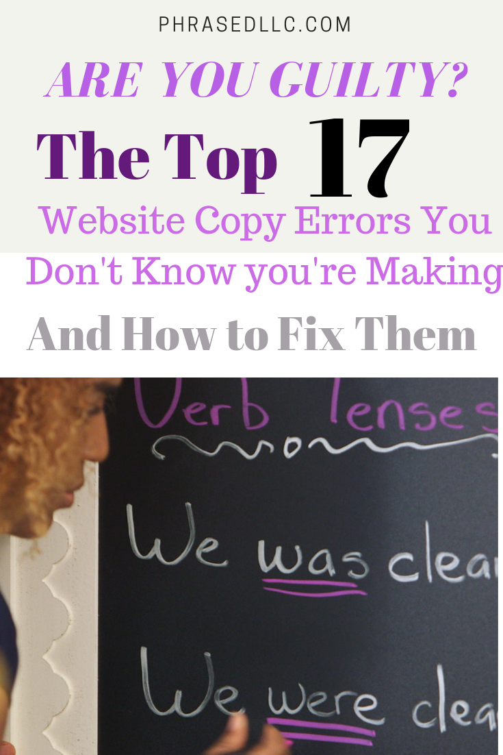 Learn how to avoid the 17 most common writing mistakes found on websites and blogs.