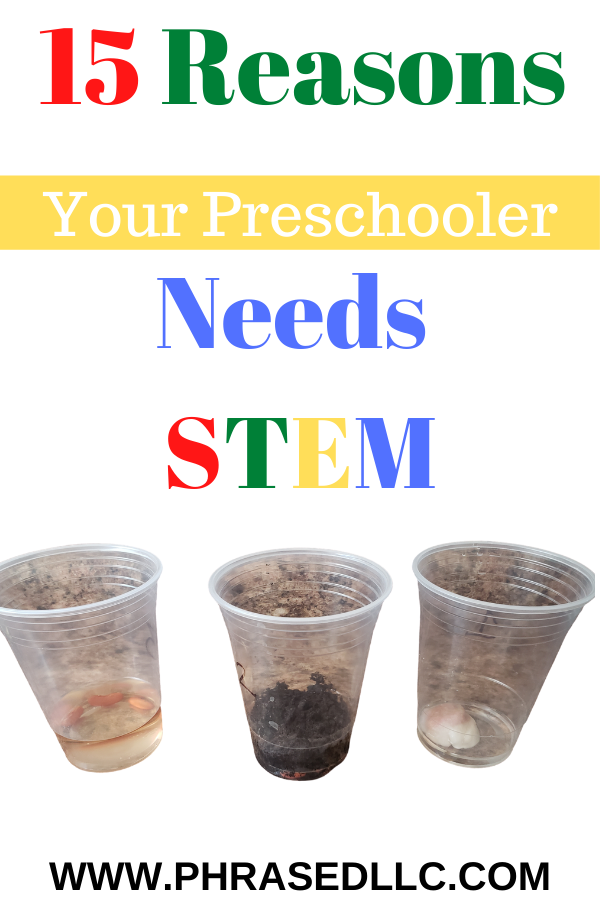 15 + STEM benefits for preschoolers and ideas of easy STEM activities for preschoolers.