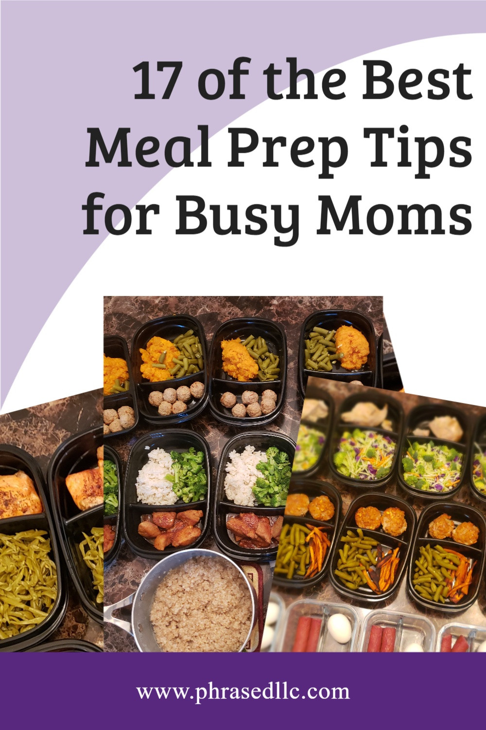 Healthy meal prep tips for busy moms to use while achieving their fitness goals.