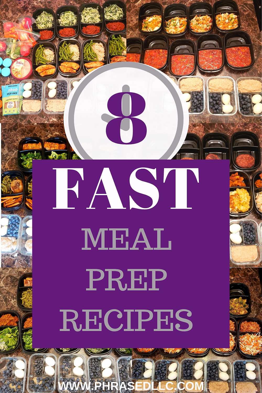 8 Fast Meal prep recipes to help busy moms achieve and maintain their fitness goal even with limited time.