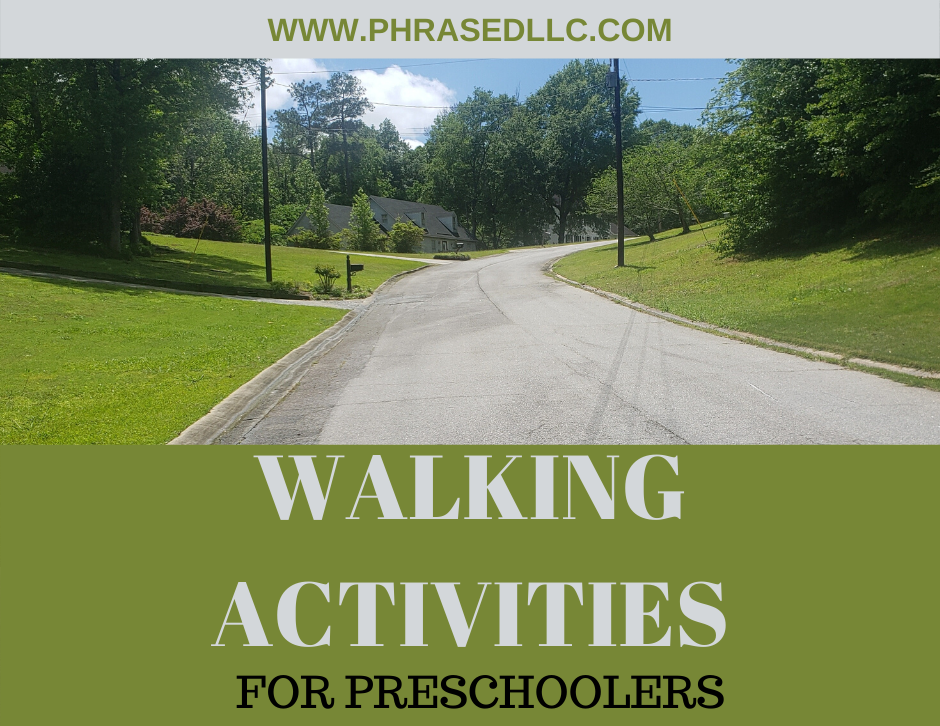 Walking activities, ideas and games for preschoolers. Tips on how to get your child to walk with you.