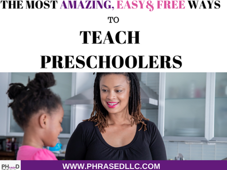 The Most Amazing Easy Free Ways to Teach Preschoolers