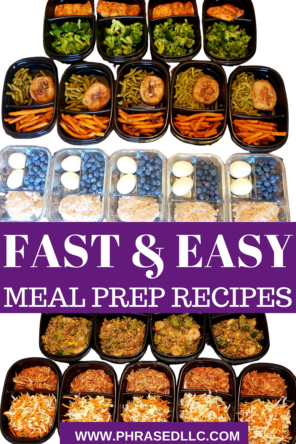 Fast and easy meal prep recipes for busy moms who want to be fit and healthy, but are short on time.