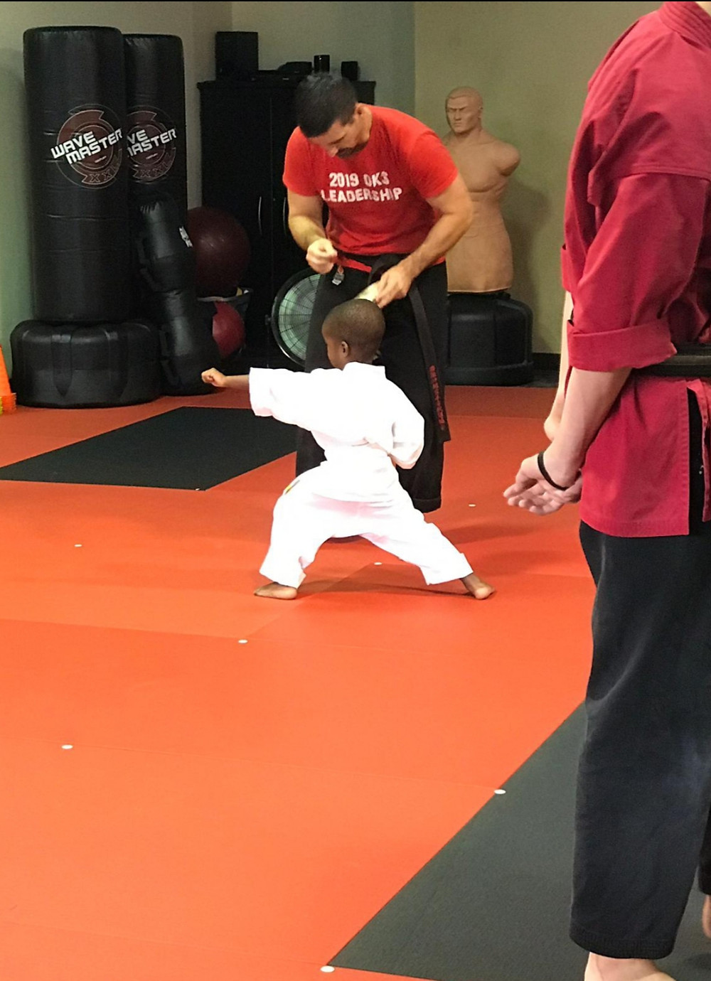 learning how to love fitness and exercise with karate at OKS macon