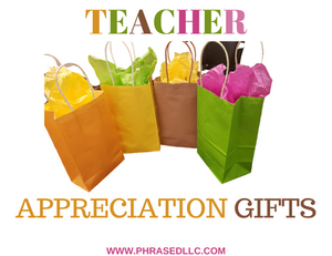 Teacher appreciation gifts that can be delivered virtually, given to staff and used during holidays and special events like Teacher Appreciation week.