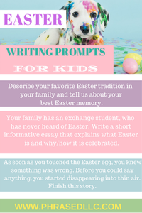 Easter writing prompts for kids to make learning at home more fun.